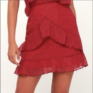 NWT The Fifth Label Ruffle Mini Skirt Size Small